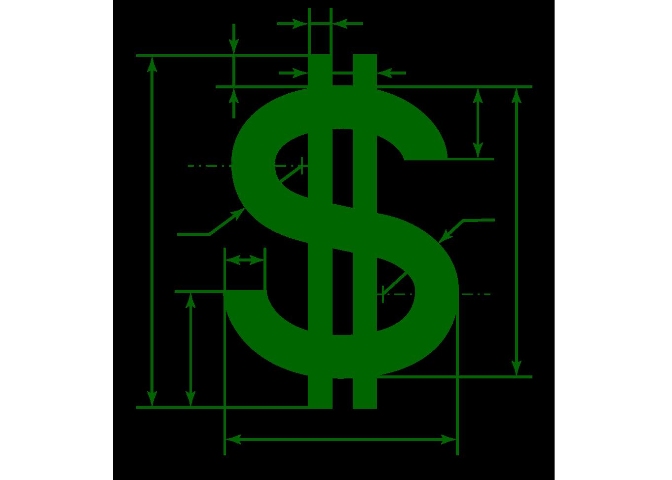 U.S. Dollar sign 1362x973